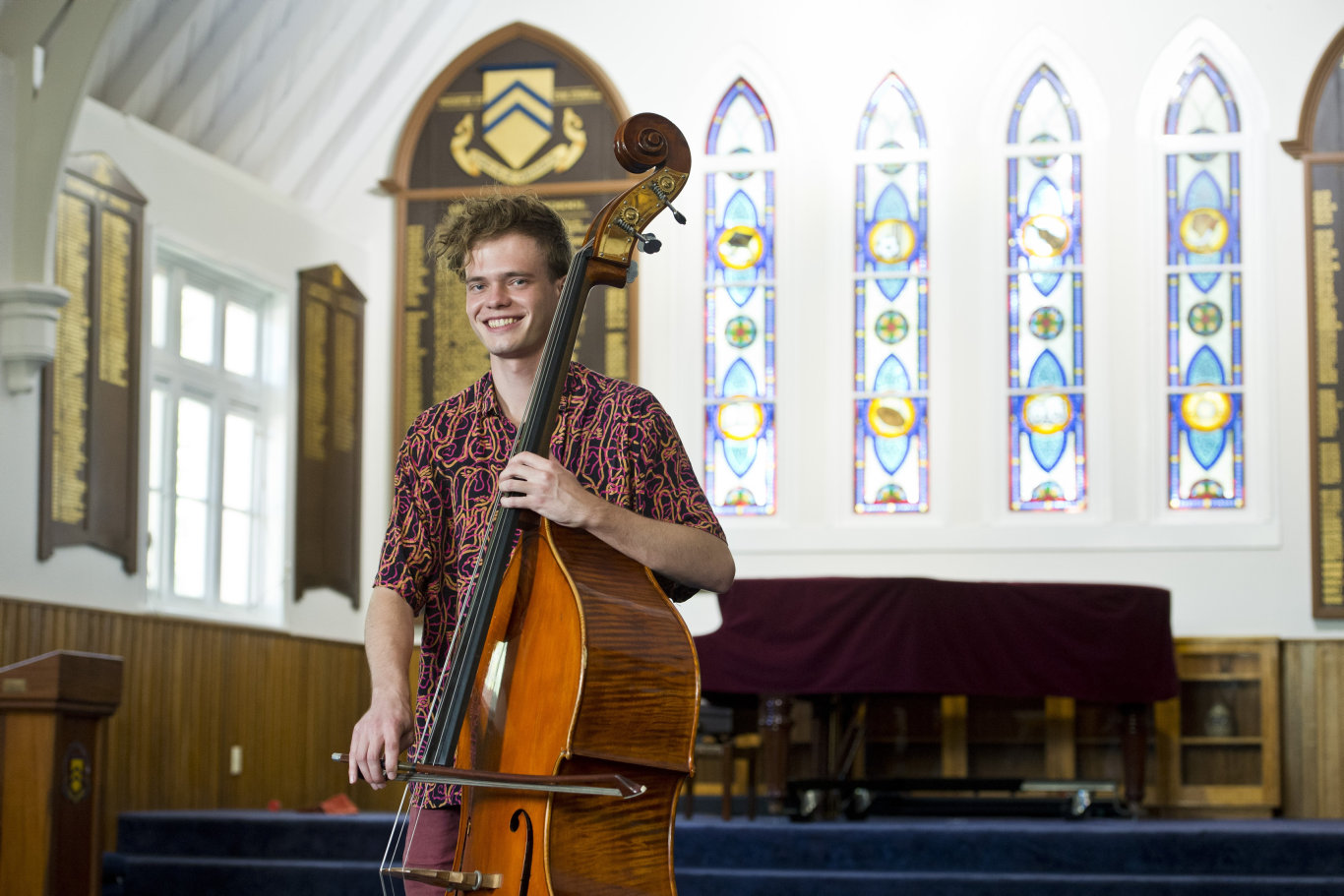 Sydney Conservatorium of Music student and old boy of Toowoomba Grammar School Will Hansen looks forward to performing with his ensemble SPIRAL in a Toowoomba concert, Wednesday, April 10, 2019.
