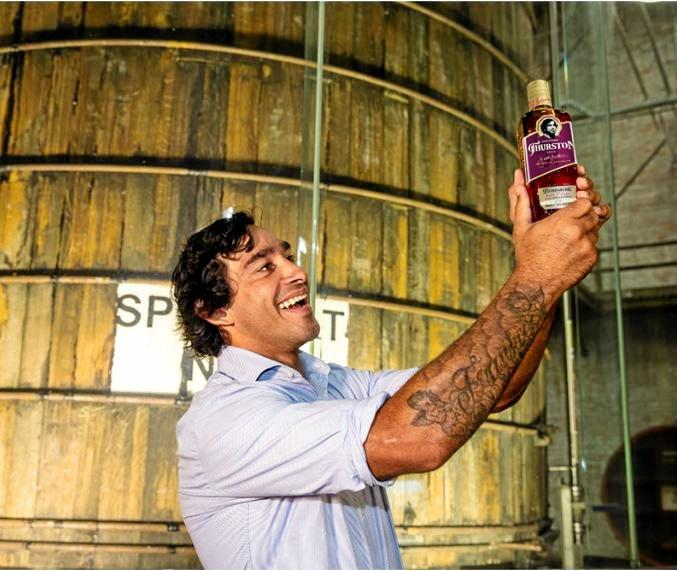 JT RUM: With smooth notes of oak, vanilla and fruitcake rugby league legend Johnathan Thurston is the face of Bundaberg Rum's newest release - JT Batch.