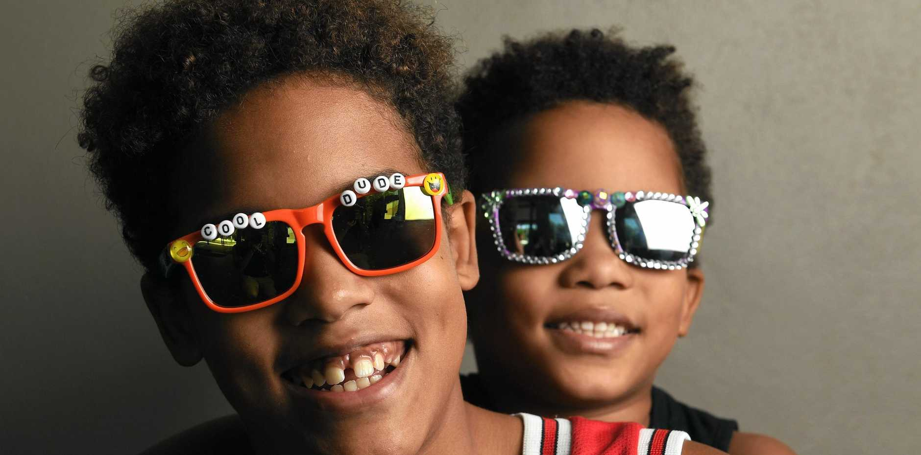 FESTIVE SPIRIT: Jamol Cook, 11 and little brother Lecrae Cook, 6, are excited about the creative workshops to be staged at the Ipswich Art Gallery this weekend.