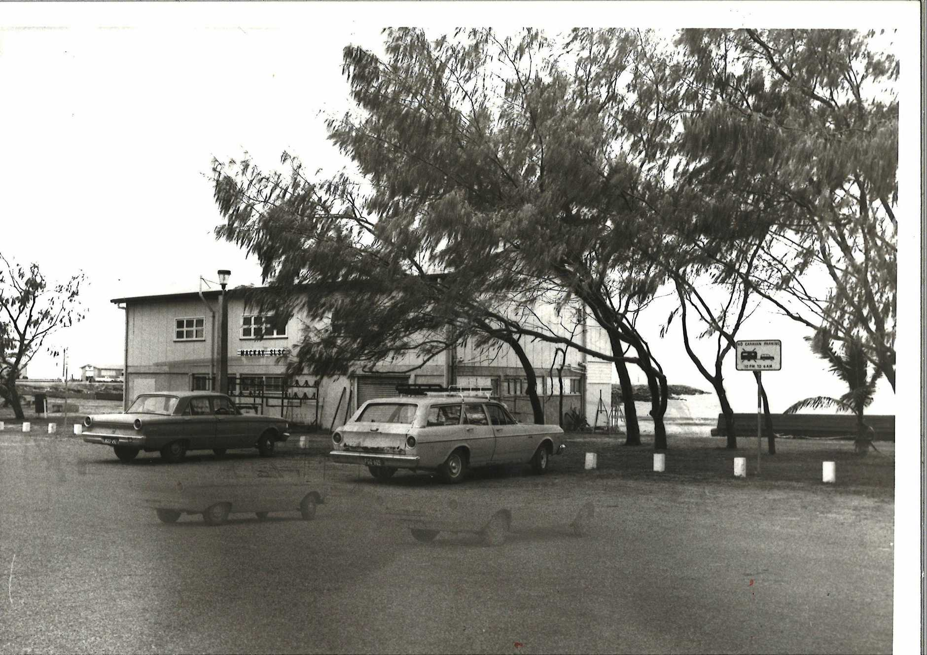 Mackay Surf Life Saving club house at Harbour Beach prior to the construction of Mackay Marina.