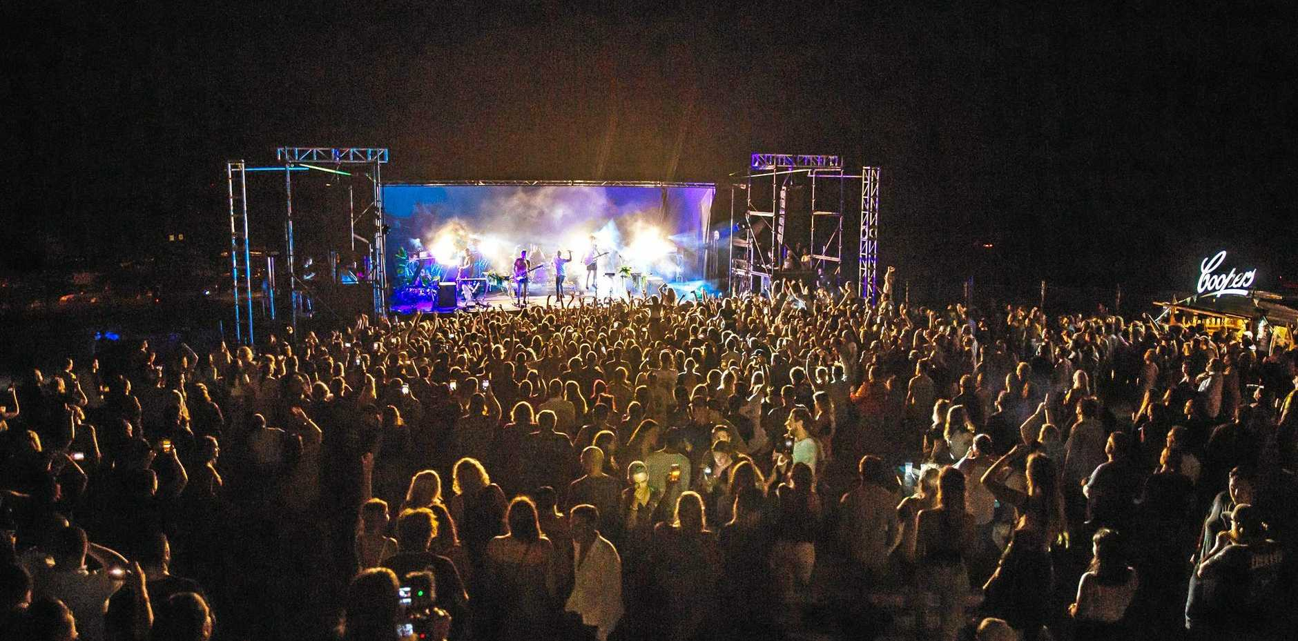 Peking Duk perform at Coffs Harbour Amphitheatre.