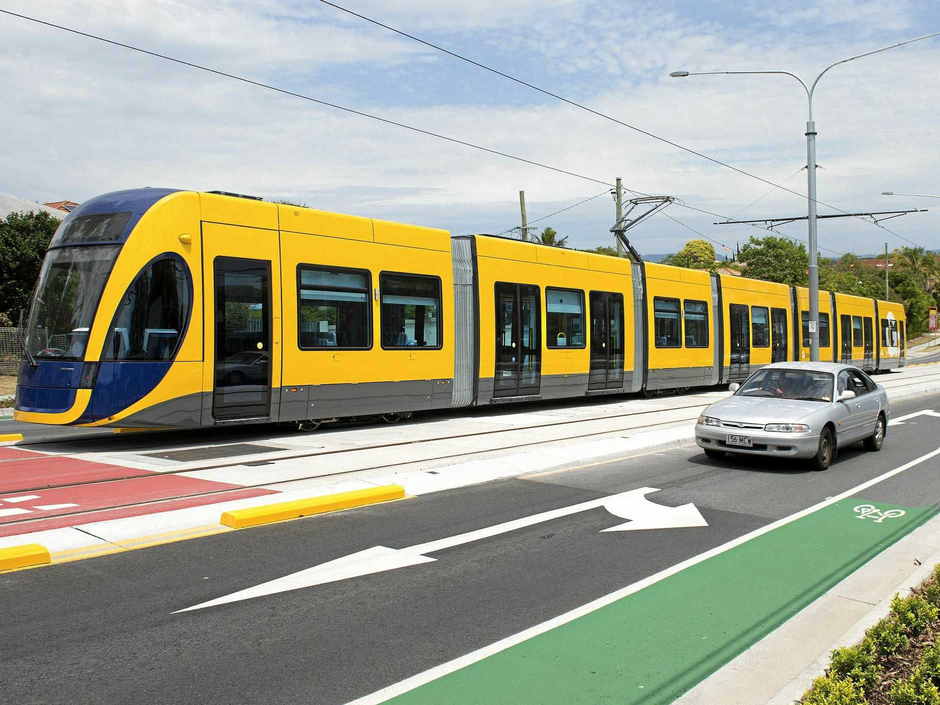 Light rail on the Gold Coast. Photo Contributed