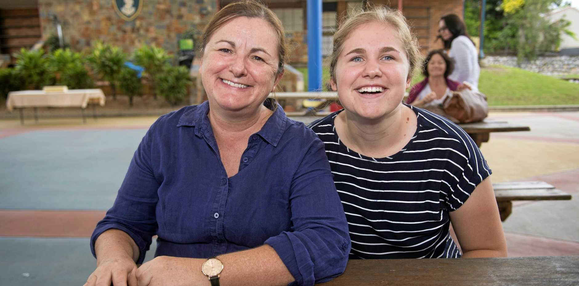 FUTURE: Sam Reynolds (right), with mother Bernadette Le Grand, believes there are opportunities in Gladstone.