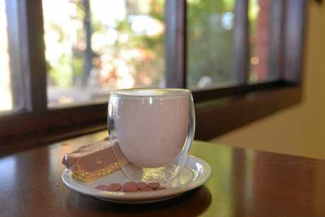 Frangipani's now has a range of ruby chocolate items on the menu including ruby hot chocolate.