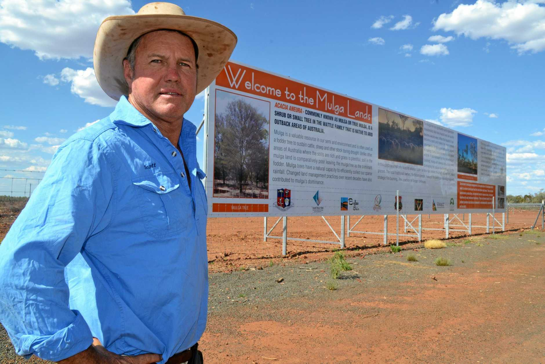 MULGA MAN: Scott Sargood was one of the first to campaign for landholders rights and fair vegetation laws in Queensland.