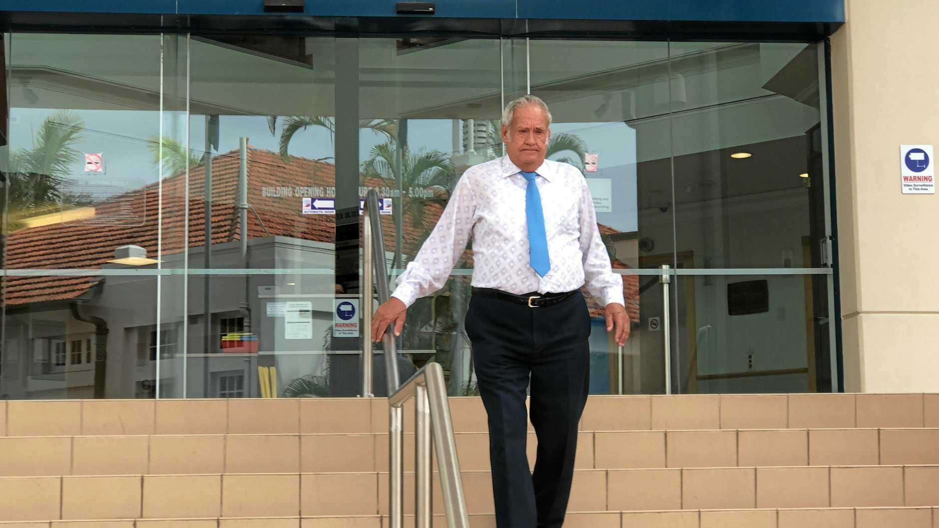 NEERKOL WORKER: Kevin Leslie Baker leaving Rockhampton Magistrates Court last year.