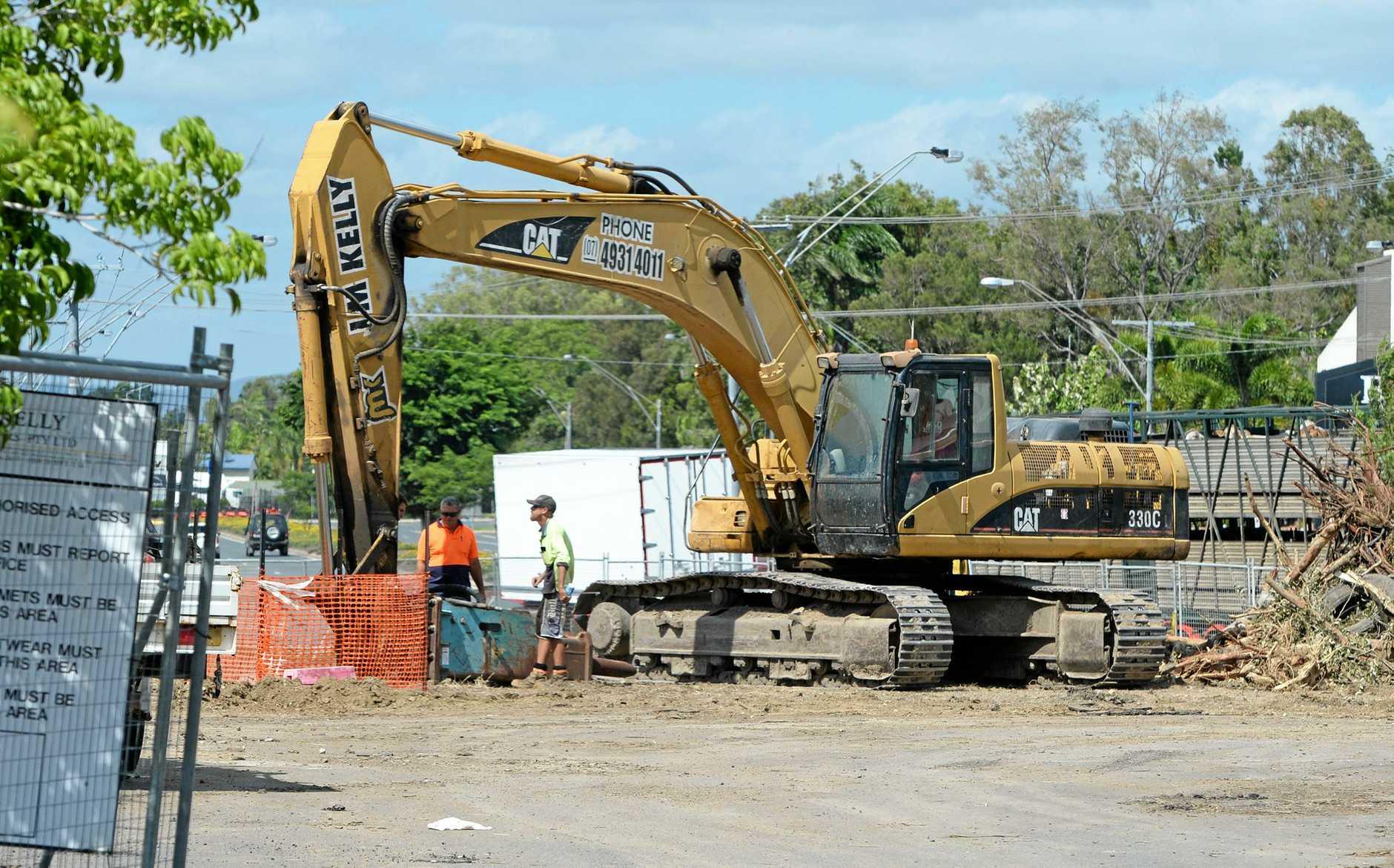 Aldi construction site on Gladstone Rd, Rockhampton.