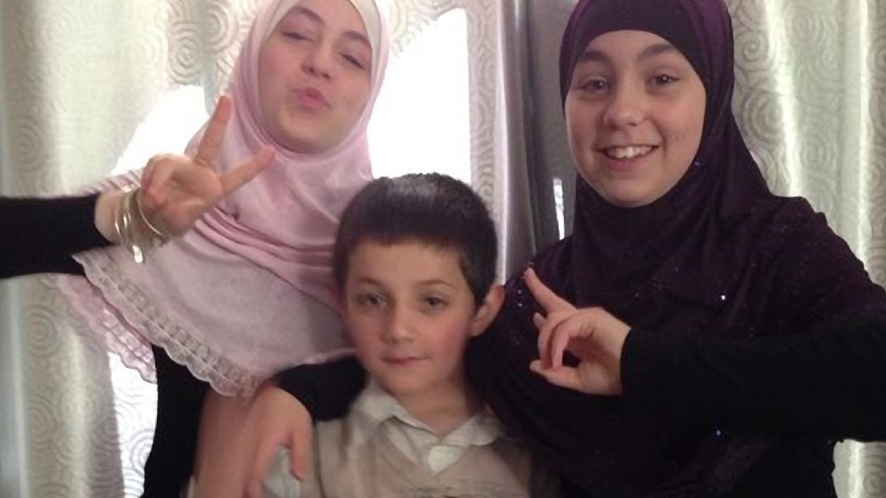 Khaled Sharrouf's children Zaynab, Abdullah and Hoda.