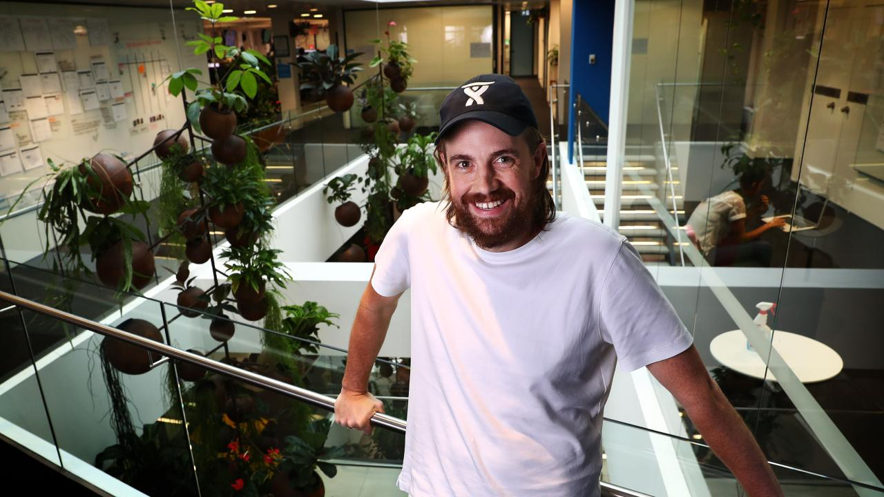 Billionaire software developer Mike Cannon-Brookes at the Atlassian offices in Sydney. Picture: John Feder