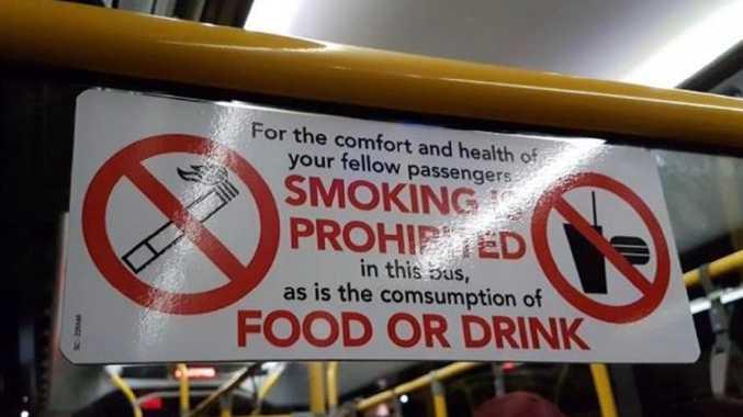 Bus typo on sign: Picture: u/nacrimo