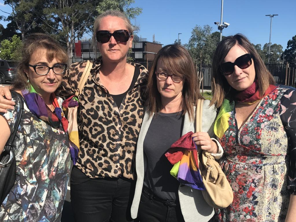 Maria Lutz's friends Sarina Marchi, Nichole Brimble, Kerrie Dietz and Peta Rostirola attended the three-day.