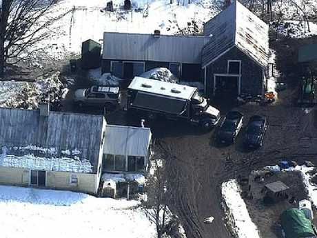 The double-murder happened at the family's property in the small town of Alton, New Hampshire, where they had lived since 2012. Picture: WBZ-TV