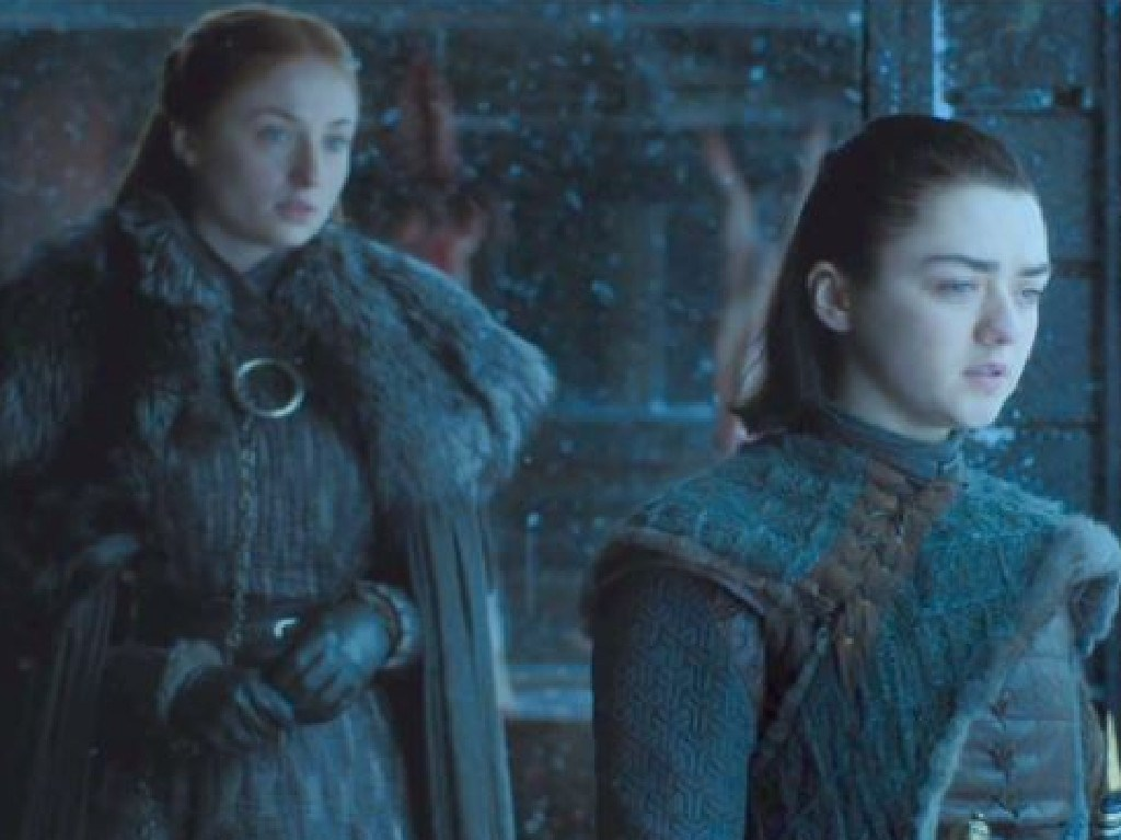 Sophie Turner and Maisie Williams and Sansa and Arya Stark in Game of Thrones. Picture: Supplied
