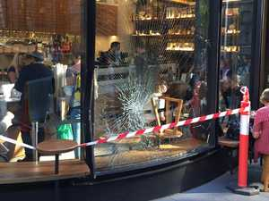 Truck allegedly stolen by intoxicated man crashes into café