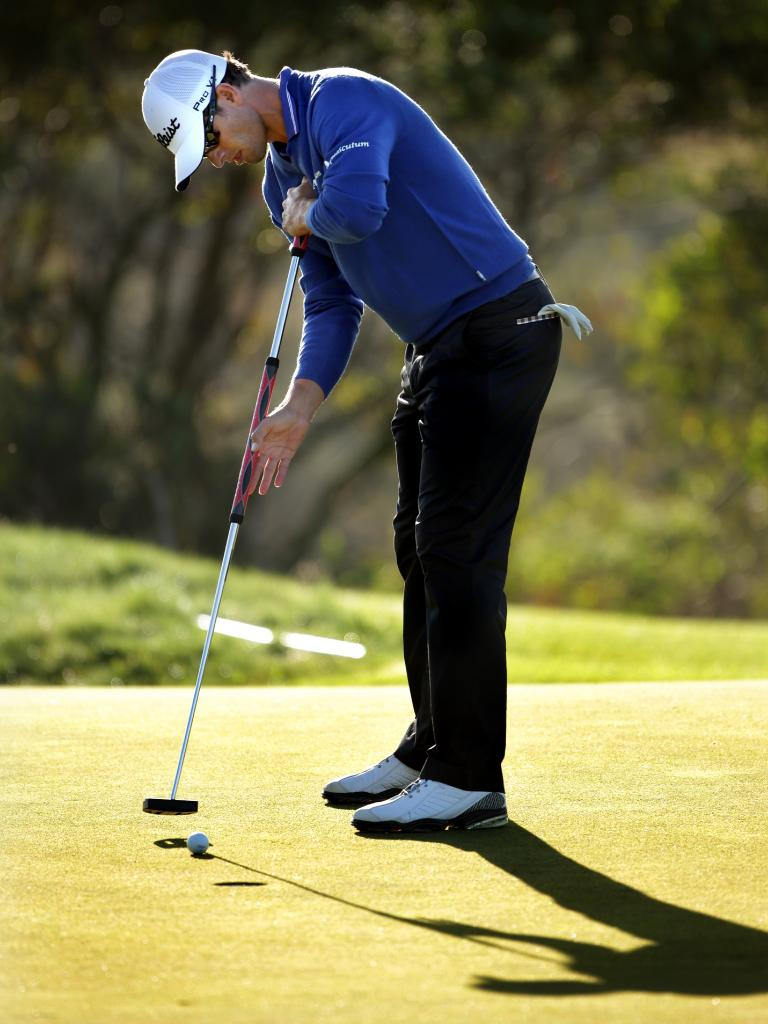 Scott putting with the broomstick in 2012. Picture: Gregg Porteous