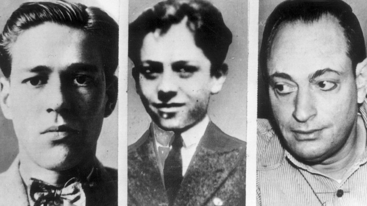 Richard Loeb, victim Bobby Franks, and Nathan Leopold.