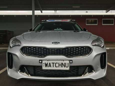 Some people praised the cheeky number plate while others weren't as impressed. Picture: Northern Territory Police, Fire and Emergency Services