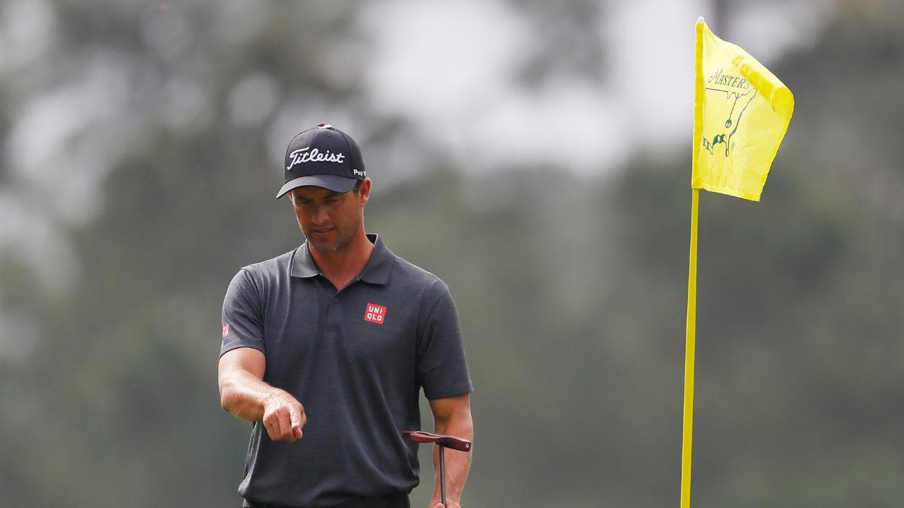 Adam Scott plans to putt with the flagstick in. Picture: Getty