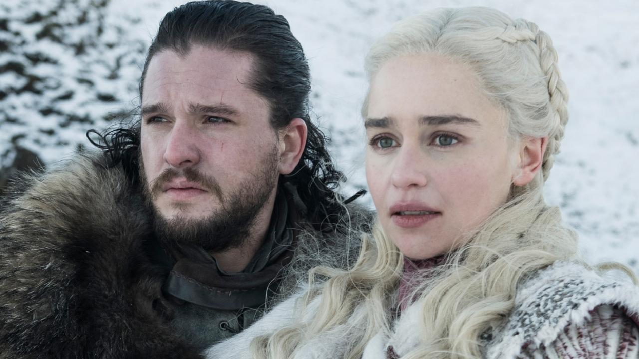 First look at The Final Season (8) of Game of Thrones Kit Harington as Jon Snow and Emilia Clarke as Daenerys Targaryen – Photo: Helen Sloan/HBO
