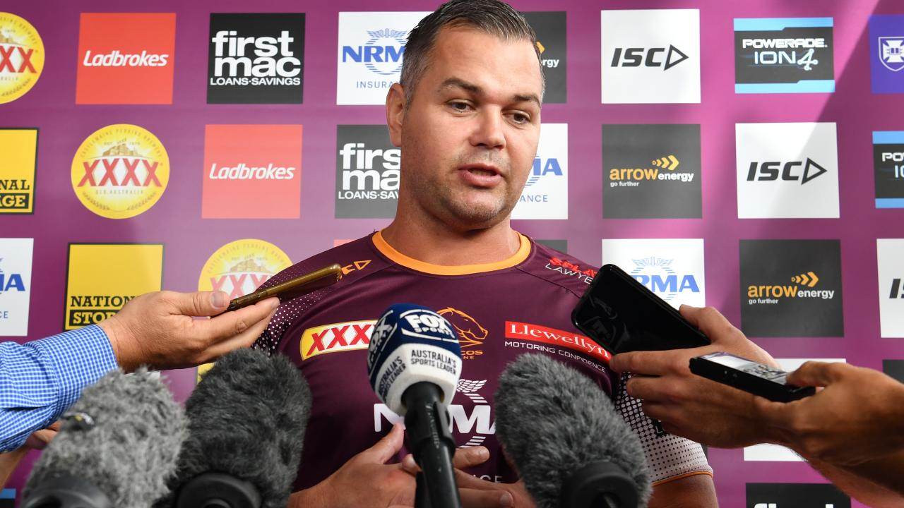 Anthony Seibold gives a colourful description of life in the NRL after his team's 1-3 start to the season. Picture: AAP/Darren England.