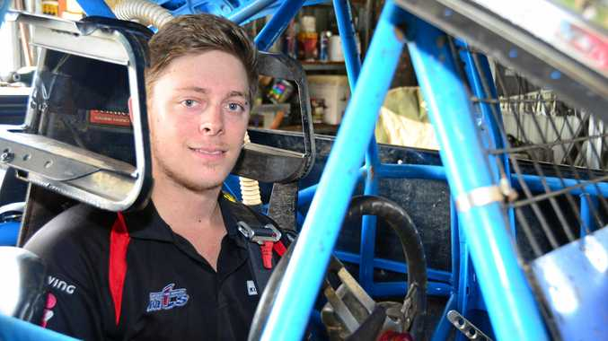 Josh Harm ready to race.