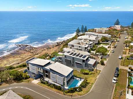 The north-facing panoramic home sits on a prime parcel of Moffat Beach land.