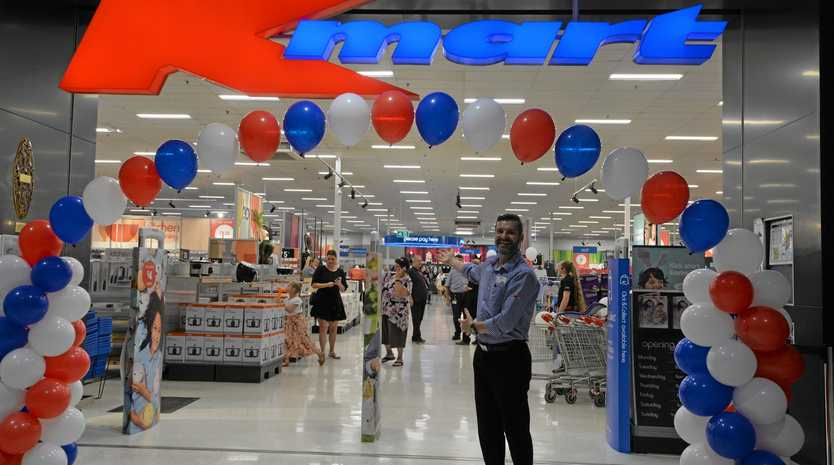 FRESH LAYOUT: Kmart Bundaberg store manager Jason Everingham welcomes customers to the fresh-look store.