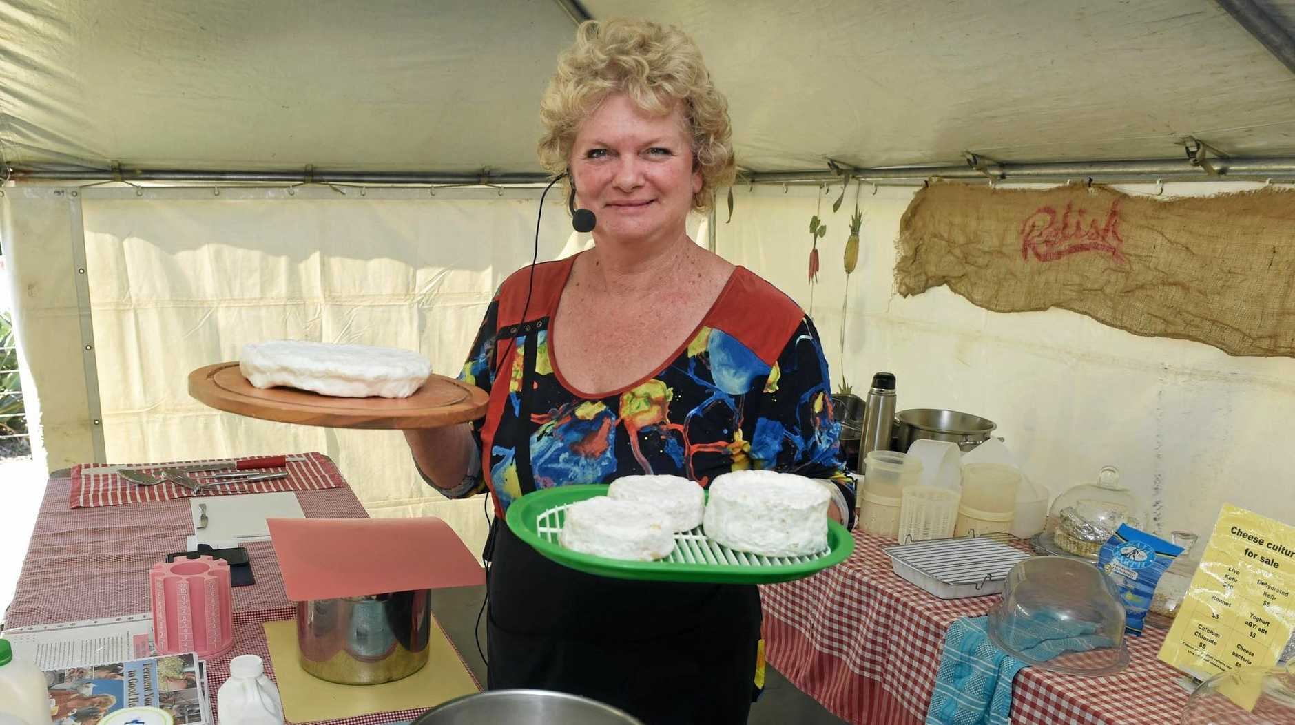 GET CULTURED:  Elisabeth Fekonia will hold four cheese-making lessons across the Gladstone Region this weekend.