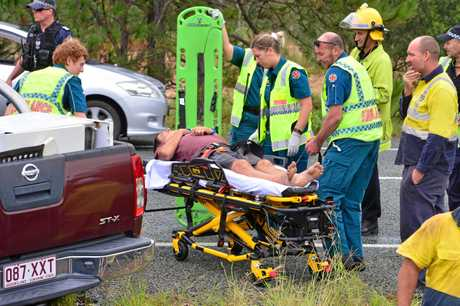 Andrew Carmody and his three children were taken to hospital in a stable condition after the crash.