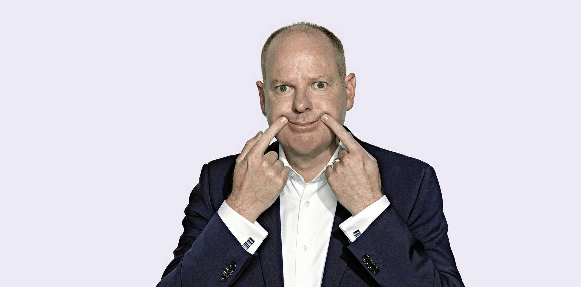 STAY AWAY: Australian comedian Tom Gleeson.