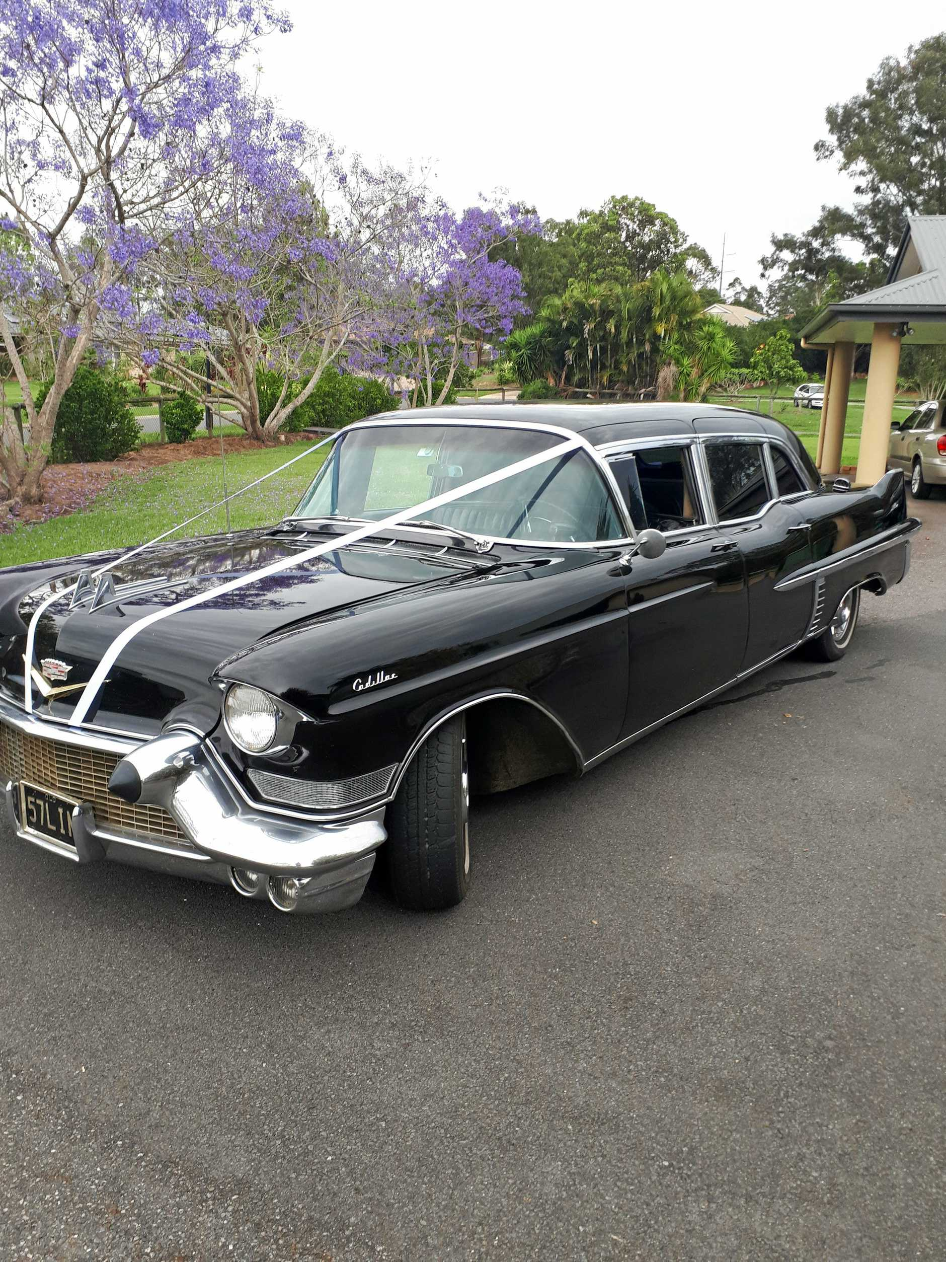 Steven Kilmek's rare 1957 Cadillac limousine.