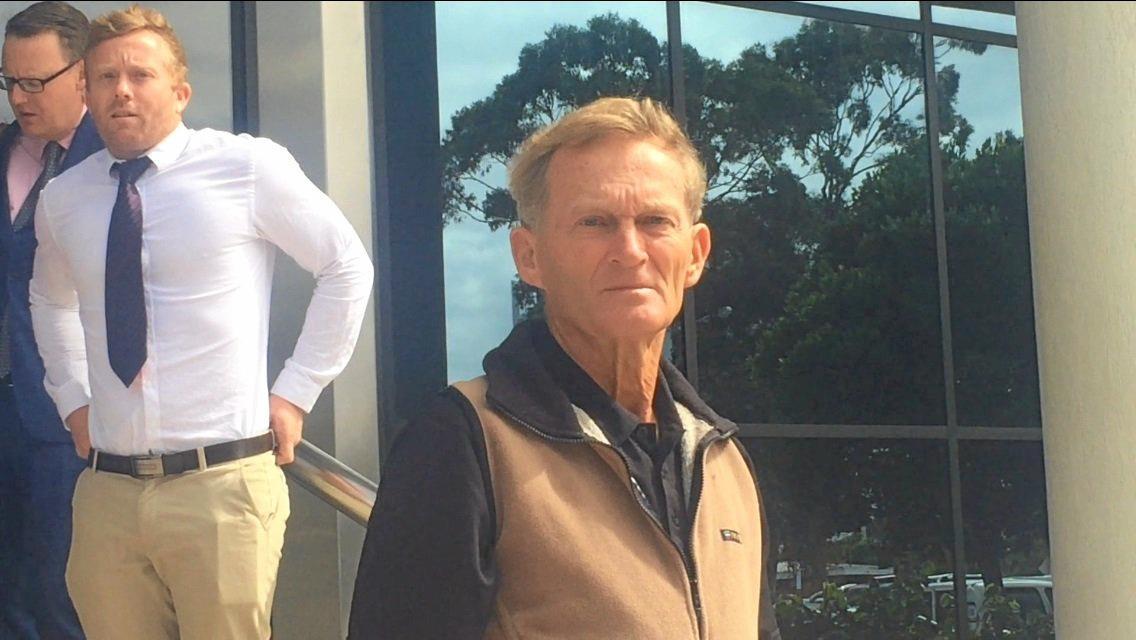Allan Thomas Atkinson leaving court in 2018.