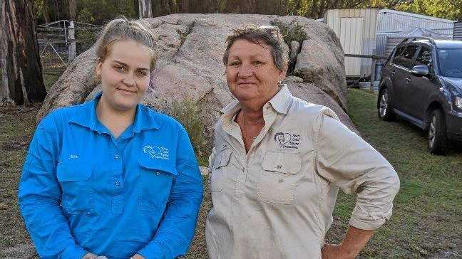 Leisa Gillham (right) with Jess Waugh from Heartland Equine Assisted Learning.