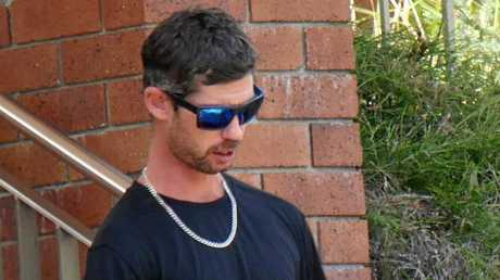 Benjamin Brian James Walters, 28, leaves Hervey Bay Magistrates Court.