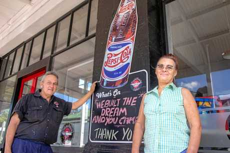 Garry and Denise Morris closed the doors on the Eagle Rock Cafe in Laidley for the last time on March 31, 2019