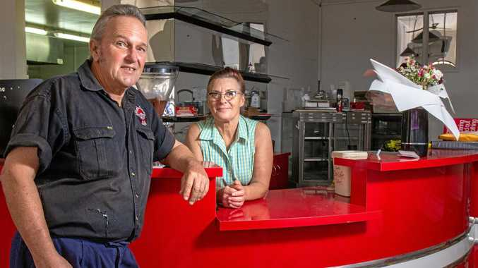 END OF AN ERA: Gary and Denise Morris closed the doors on the Eagle Rock Cafe in Laidley for the last time on March 31.