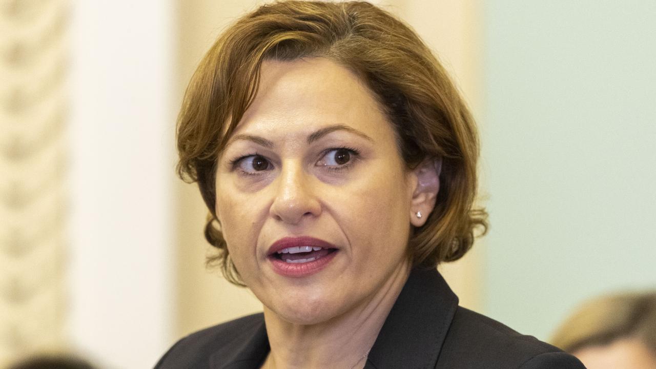 Queensland Treasurer and Deputy Premier Jackie Trad on Adani. Picture: AAP Image/Glenn Hunt