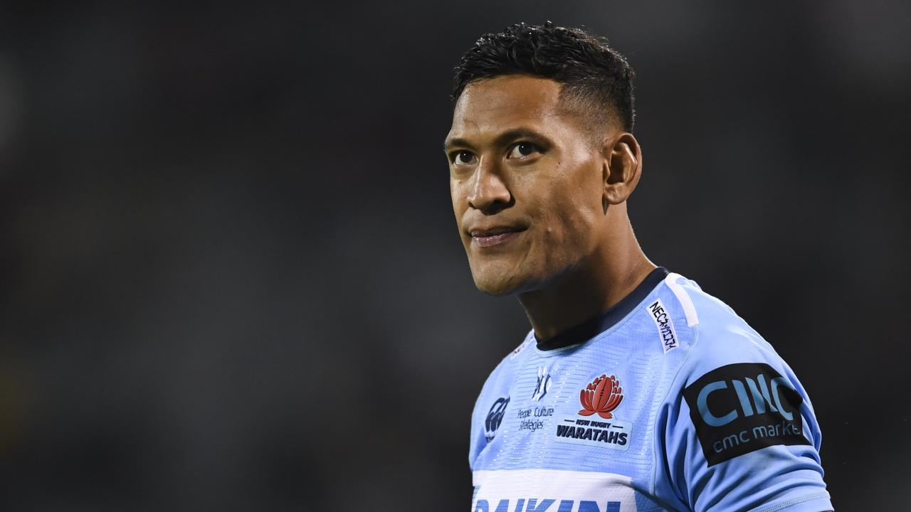 Time to go: Rugby Australia can no longer stand by Israel Folau. Picture: AAP