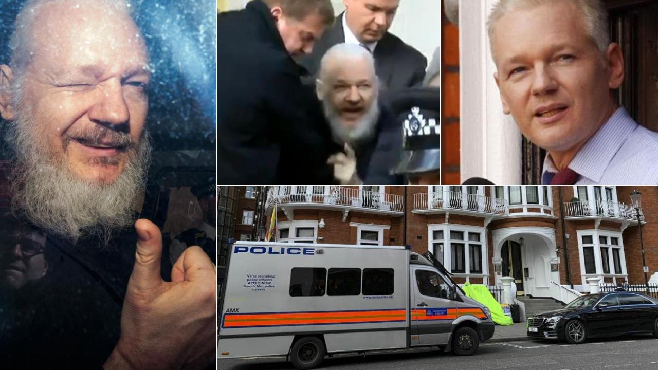 Julian Assange has been dramatically arrested in London.