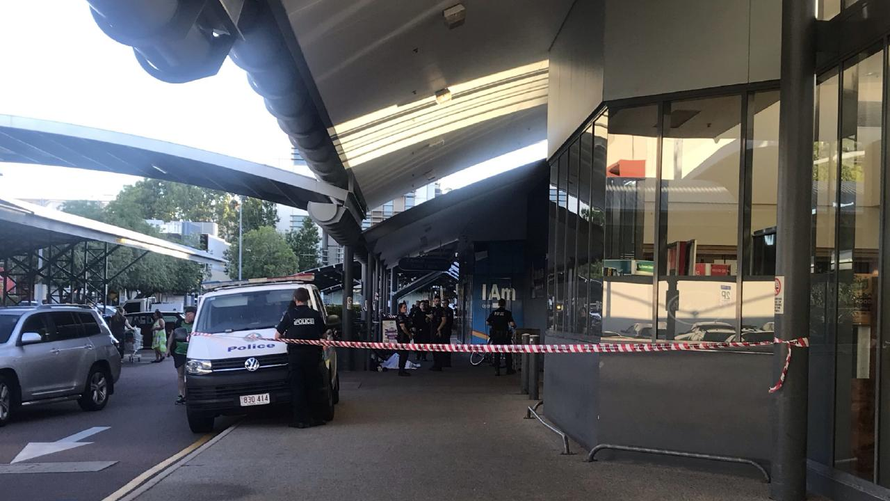 A man has died at the Smith St Woolworths building