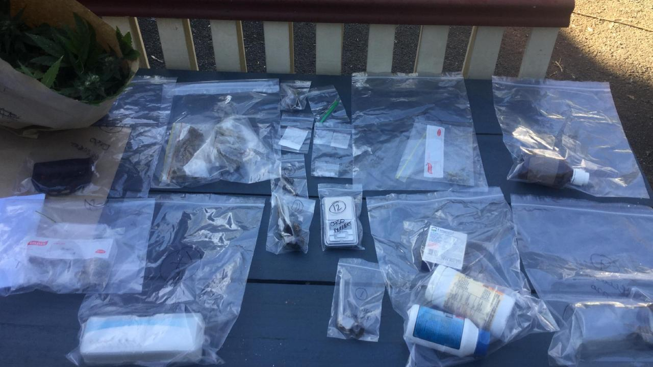 Items seized in raid on Mount Tamborine property.