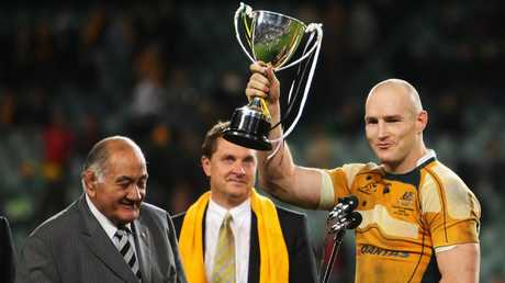 Stirling Mortlock believes Rugby Australia's hand has been forced. Picture: Getty Images