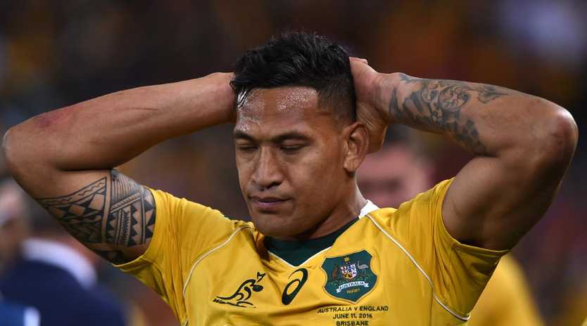 Fines no longer cut the mustard with Folau. picture: AAP