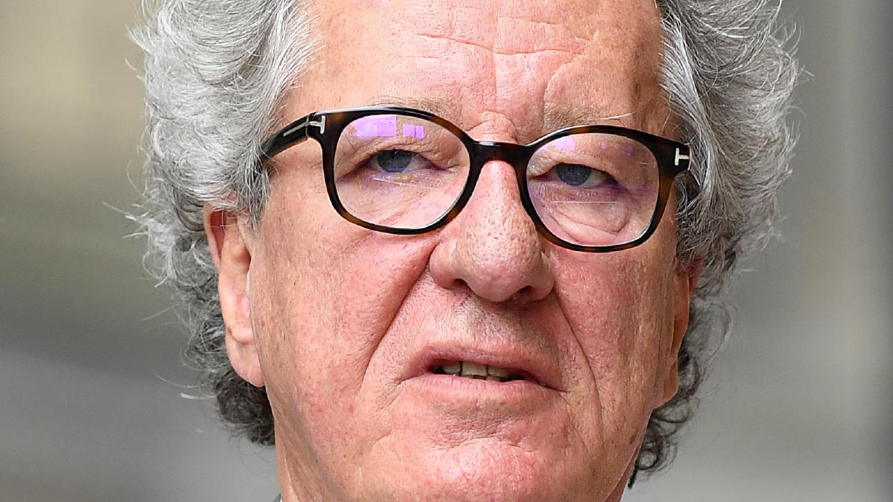 Geoffrey Rush outside the Federal Court in Sydney in November. Picture: AAP
