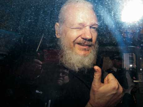 After weeks of speculation Wikileaks founder Julian Assange was arrested by Scotland Yard Police Officers inside the Ecuadorian Embassy in London. Picture: Jack Taylor/Getty Images