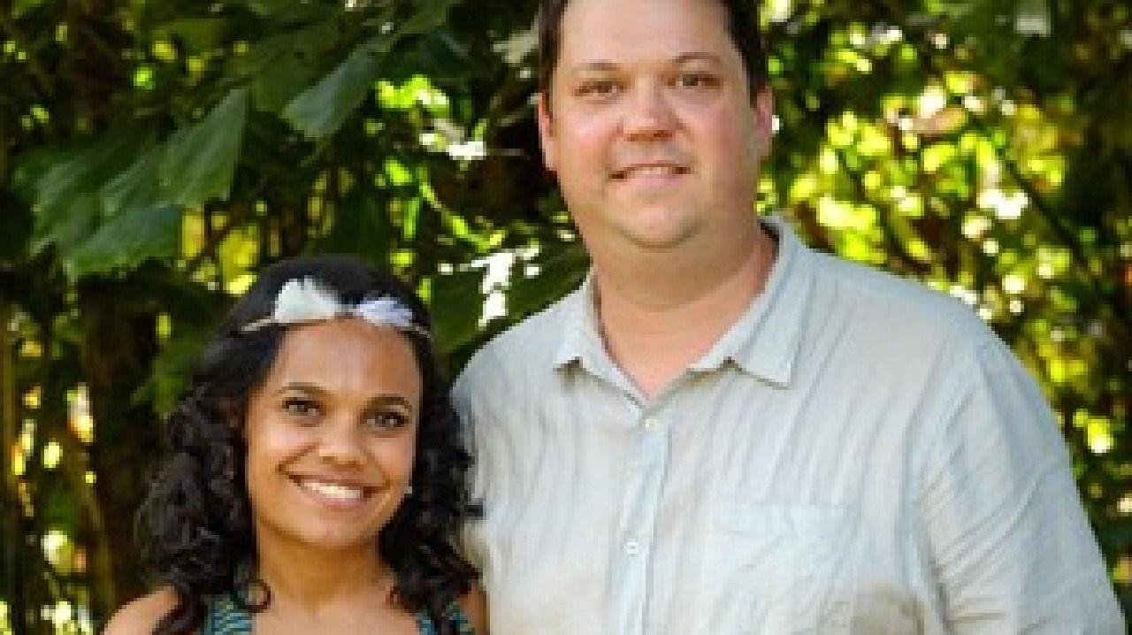 Top End Wedding co-writers Miranda Tapsell and Joshua Tyler.
