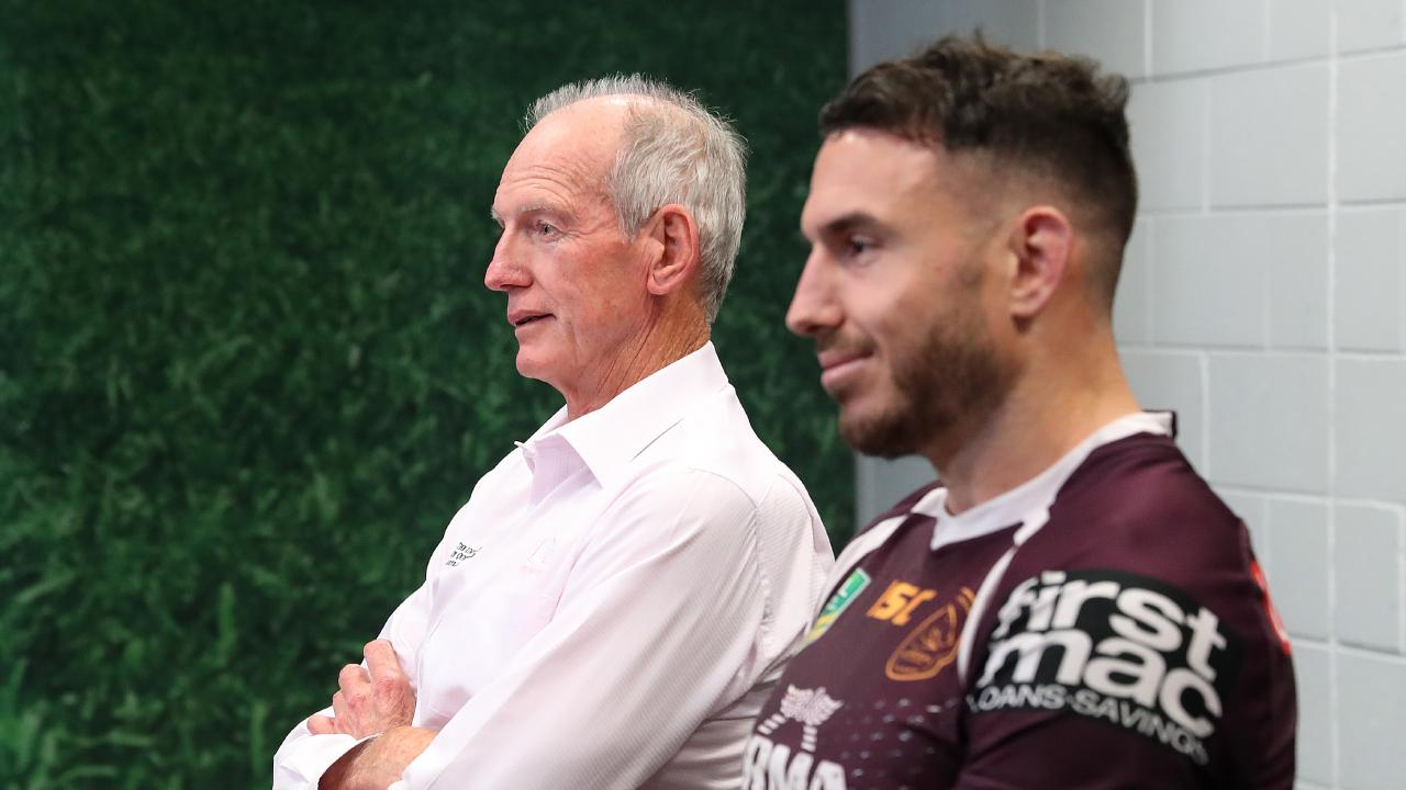 Darius Boyd is set to play his 300th game against Wayne Bennett's Bunnies. Picture: Liam Kidston