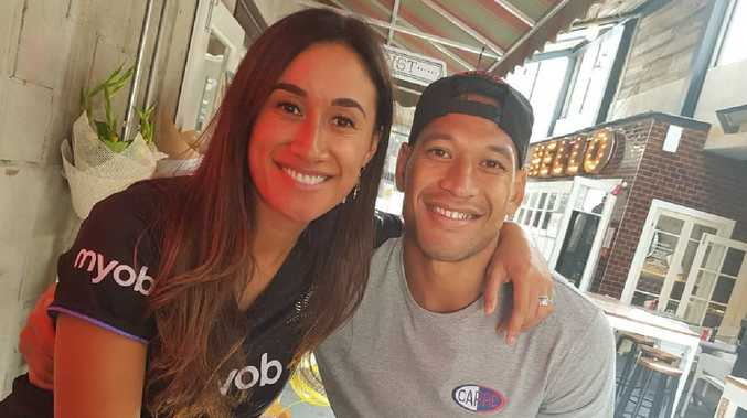 Israel Folau and wife Maria Tutaia Picture: Instagram @izzyfolau