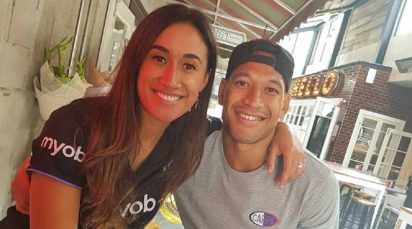 Israel Folau and wife Maria Tutaia Picture: Instagram @izzyfolau
