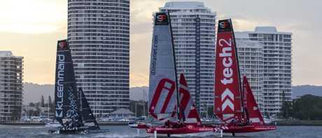 SuperFoiler Grand Prix action off the Gold Coast in February last year. PICTURE: Andrea Francolini